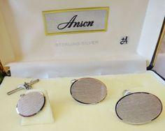 Vintage Cufflinks Anson Sterling Silver Cufflinks by vintagelady7