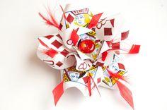 Carte à jouer avec les plumes cheveux fleur Fascinator diamant