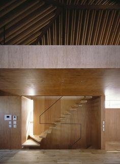 stair to open 'loft' - new-build, minimalist NORD house - Tokyo, Japan - APOLLO Associates
