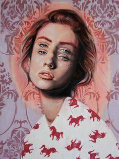 // Graphic Design / illustration #two #eyes #woman #portrait #illustration #psychedelic #unicorn #shirt