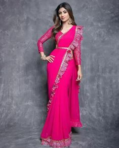 Bollywood Approved Latest Saree Trends for Brides - ShaadiWish Fancy Sarees, Party Wear Sarees, Saree Designs Party Wear, Indian Designer Outfits, Designer Dresses, Gown Designer, Designer Sarees, Indian Dresses, Indian Outfits