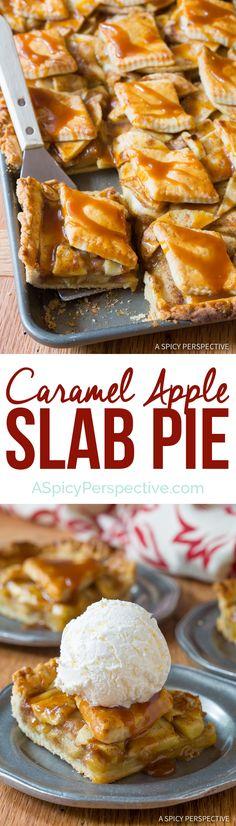 Easy-Peasy Caramel Apple Slab Pie | ASpicyPerspective.com