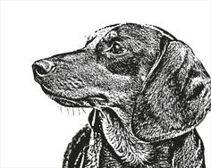 Why not have your wiener dog immortalized with a custom pet portrait by etsy seller FuzzyMug?