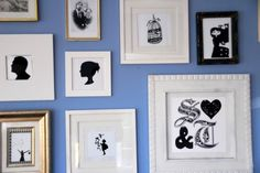 #gallery wall ... want to get silhouettes done for myself and b and any future additions and put on gallery wall