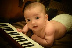 Baby photography, guitar baby, keyboard baby, 2months old baby photography.