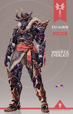 This is an alternate deluxe skin design for the Excalibur Warframe by Asturisk that I really hope gets implemented into the game. Also, it kind of looks like Kamen Rider Hibiki. Warframe Excalibur, Warframe Art, Fantasy Armor, Dark Fantasy Art, Armor Concept, Concept Art, Game Character, Character Concept, Fantasy Character Design
