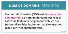 Nom de domaine définition marketing Site Internet, Marketing, Vocabulary, Computer Science