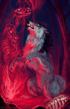 Anime Wolf, Dark Fantasy Art, Fantasy Wolf, Artwork Lobo, Wolf Artwork, Arte Furry, Furry Art, Demon Wolf, Werewolf Art