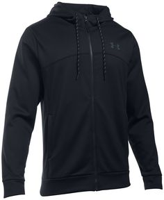 Stay warm and protected with this Under Armour Storm zip hoodie, featuring lightweight Armour Fleece fabric plus a water-repellent finish.   Polyester   machine wash   Imported   Attached hood with dr
