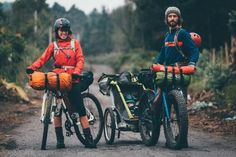 Cycling loaded - One of the many examples of great family ...