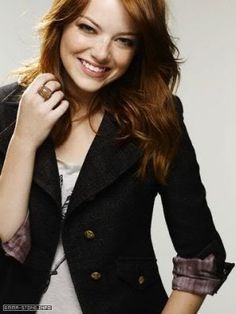 Emma Stone.  Love her acting.  And her style.  And her humor.