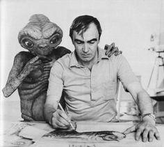 E.T helping his creator Carlo Rambaldi