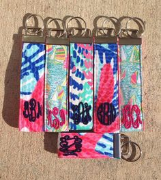 Monogrammed Lilly Pulitzer Fabric Key Fob by PreppyBowsandSass on Etsy https://www.etsy.com/listing/220832670/monogrammed-lilly-pulitzer-fabric-key