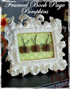 The Scrap Shoppe: Framed Book Page Pumpkins tutorial