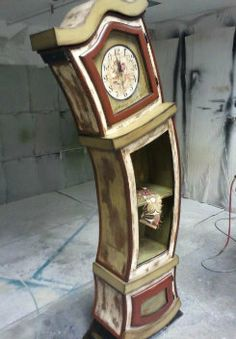 Pin By Amy Sills On Painted Furniture Clock Painting