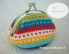 Pattern N11: Tapestry Crochet Coin Purse by Pimentayflor on Etsy