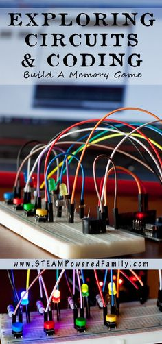 Coding and Electrical Circuits For Kids - A hands-on STEM activity building a memory game using a breadboard and Arduino. Building the Makers of Tomorrow.
