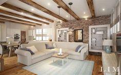 11 professzionális modern nappali látványterv Living Room Decor Grey And White, Karton Design, Beautiful Living Rooms, Living Room Kitchen, Interior Design Living Room, Modern Design, Sweet Home, House Design, House Styles