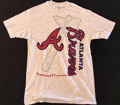 e065513a2 Details about Vtg 1990s Atlanta Braves T-Shirt Large baseball mlb national  league