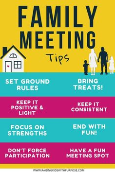 If you want to create a strong family culture where your kids feel safe, have weekly family meetings! Learn what to put on the agenda and what to focus on like rules, strengths, chores and allowance. #raisinghappykids #kindkids #family #familygoals #meeting Family Values, Family Goals, Family Life, Family Meeting, Family Game Night, Chores And Allowance, Strong Family, Meant To Be Together, Listening Skills