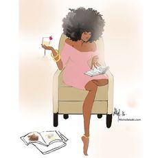 Black Love Art, Black Girl Art, Black Girl Magic, Art Girl, Black Girls, Black Women, Natural Hair Art, Natural Hair Styles, Arte Black