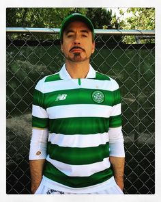 Robert Downing Jr, Celtic Fc, Soccer Fans, Tony Stark, Football Shirts, Glasgow, Iron Man, Cat Machines, Polo Ralph Lauren