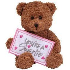 TY Beanie Greetings You're a sweetie Sweetest day bear Beautiful Flowers Photos, Flower Photos, Beanie Buddies, Happy Friendship Day, Beanie Boos, Sweetest Day, Pet Toys, Boy Or Girl, Teddy Bear