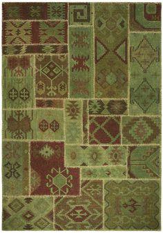 Oriental Dream zelený 200 x 300 cm  - Ručne tkané koberce - Koberec,moderný koberec,značkové koberce, koberce s dlhým vlasom, detské koberce
