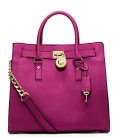 MICHAEL Michael Kors Large Hamilton North/South Saffiano Leather Tote | Dillard's Mobile