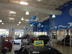 """Honda Dealership Themes - Balloon Man LLC #customdesigns #balloondesigns - It's less expensive than the """"do-it-yourself"""" method with your helium expense, balloon cost, and your dealership's labor (when you figure in the amount of time your sales personnel is off the floor and off the phone). It gives your dealership a more professional look and it's absolutely no hassle to you."""