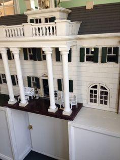 Dixie plantation dollhouse restored facade