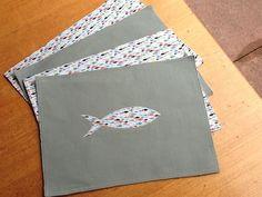 Set of 4 Reversible Fishy Cotton Place Mats £22.00