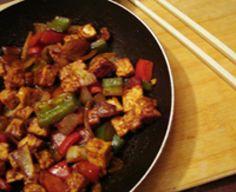 Tempeh Stir Fry With Bell Peppers in Teriyaki Sauce (A Vegetarian and Vegan Recipe)