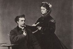 King Ludwig II of Bavaria (the Neuschwanstein & Hohenschwangau king) and his fiance, Duchess Sophie, in 1867. Though the two were engaged throughout most of 1867, Ludwig later canceled the engagement and never married. Studies of his diaries and letters suggest the that the king, a devout Roman Catholic, struggled with his sexual orientation throughout his life. He died at the age of 40.