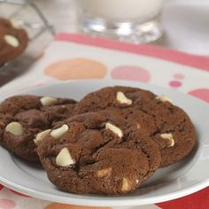 white chip chocolate cookies - these are pretty good, a little dry, but probably because I baked them too long.
