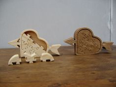 Pine & Oak Heart Box Puzzles
