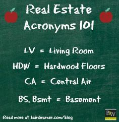 Real estate acronyms are so hard to understand! Here is a quick guide. #realestate #Pittsburghrealestate #thejimdolanchteam