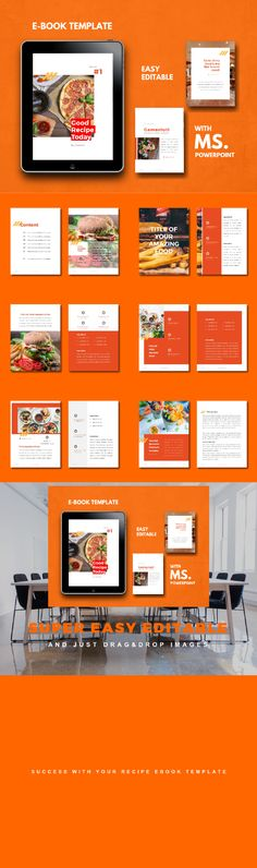 Buy Recipe Food eBook PowerPoint Template by rivatfauziandteams on GraphicRiver. ★ Get 9 bundle Items sheets ebook design template off discount (life time updates! Cookbook Template, Architecture Quotes, Cover Template, Self Publishing, Recipe Today, Funny Art, Design Quotes, Presentation, Web Design