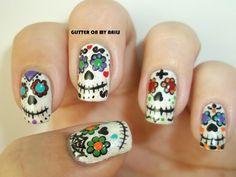 GLITTER ON MY NAILS halloween  #nail #nails #nailart