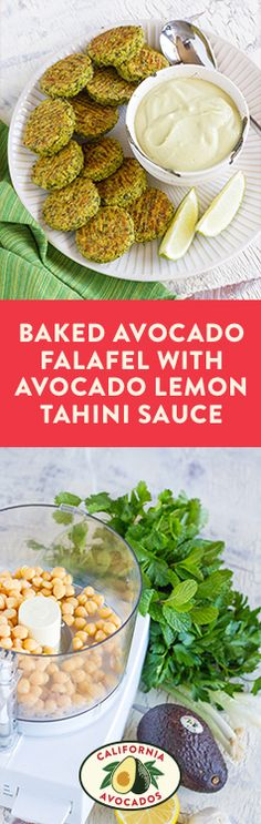 Impress your favorite foodies with these easy baked falafels featuring creamy California Avocados.