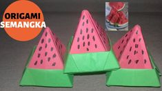 New video by SLOWMOM on YouTube Watermelon, Origami, Channel, Make It Yourself, Youtube, Kids, Young Children, Boys, Children
