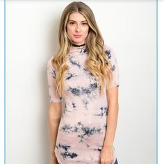Pink Tye Dye Shirt! The Dye Shirt! Beautiful Pink Tye Dye Shirt! It has some length! If you're comfortable with minis you can wear as a dress! You can also wear with tights or jeans! Tops Tees - Short Sleeve