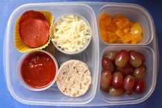 lunchbox ideas - pizza!