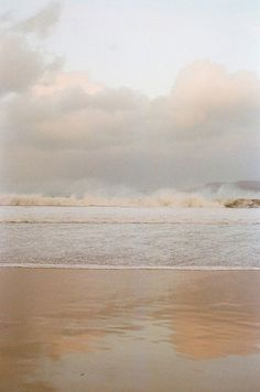 beautiful beach -waves crashing on the horizon, but gently washing up on the sand. (Via lover of all things cozy) Jolie Photo, Color Inspiration, Aesthetic Wallpapers, Seaside, Serenity, Surfing, Scenery, World, Stephen Edwards