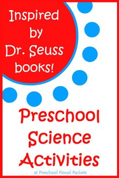 Love these Inspired-By-Dr. Seuss Science Activities! A growing collection for kids in preschool, kindergarten, and elementary school from Preschool Powol Packets!