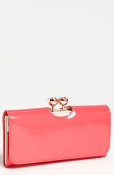 9057bef922741e Ted Baker Crystal Bobble Matinee Wallet in Pink (mid pink)