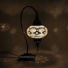 Turkish Moroccan Mosaic Lamp Light Desk Table Handmade Large Globe UK SELLE
