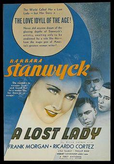 A Lost Lady (1934) Barbara Stanwyck, Frank Morgan, Ricardo Cortez