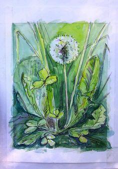 #art #искусство #живопись #акварель #творчество #AndreyPenkin #painting #watercolor #creativity #одуванчик #dandelion #лето