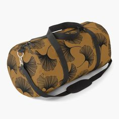 """""""Gingko -- Black and Brown"""" Duffle Bag by adamsandcats 